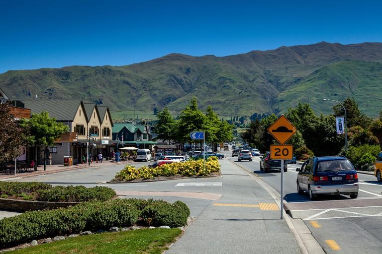 The Town Of Wanaka, Lake Wanaka, Otago Region, South Island, New Zealand
