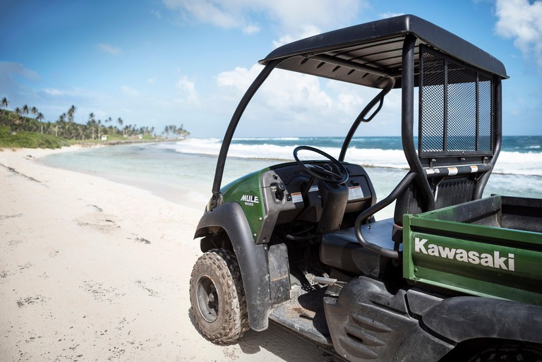 typical vehicle (golf buggy) at San Andres Island, Departamento San Andres and Providencia, Colombia, Caribbean Sea, Southamerica