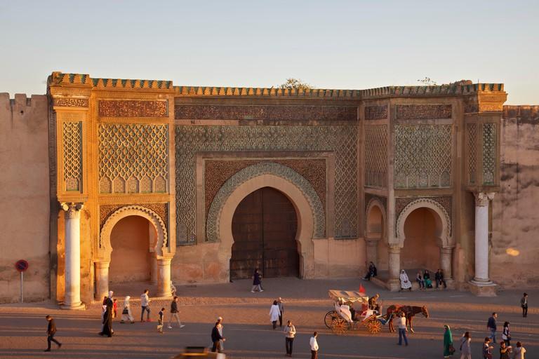Bab Mansour Gate, Meknes, Morocco, North Africa