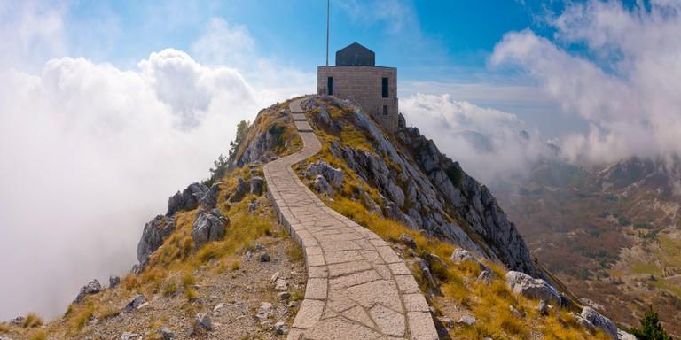 Montenegro, Lovcen National Park, Njegos Mausoleum