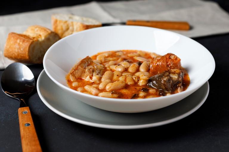 Fabada Asturiana. Cooked beans.