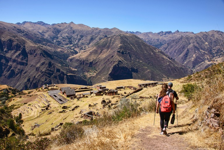 "The remote Inca ruins of Huchuy Qosqo (""Little Cuzco""), Sacred Valley, Peru - W6JTBA"