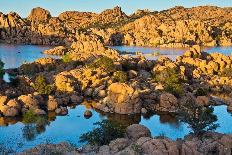 Granite Dells, Watson Lake, Prescott, Arizona, USA.
