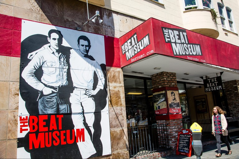 The exterior of the Beat Museum, San Francisco, California, United States