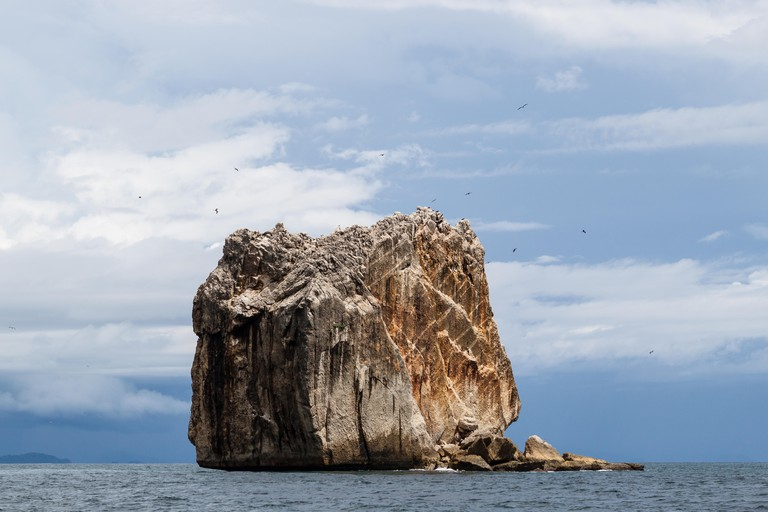 A view of the iconic Witch's Rock, home of some incredible surf, located near Tamarindo, Costa Rica.