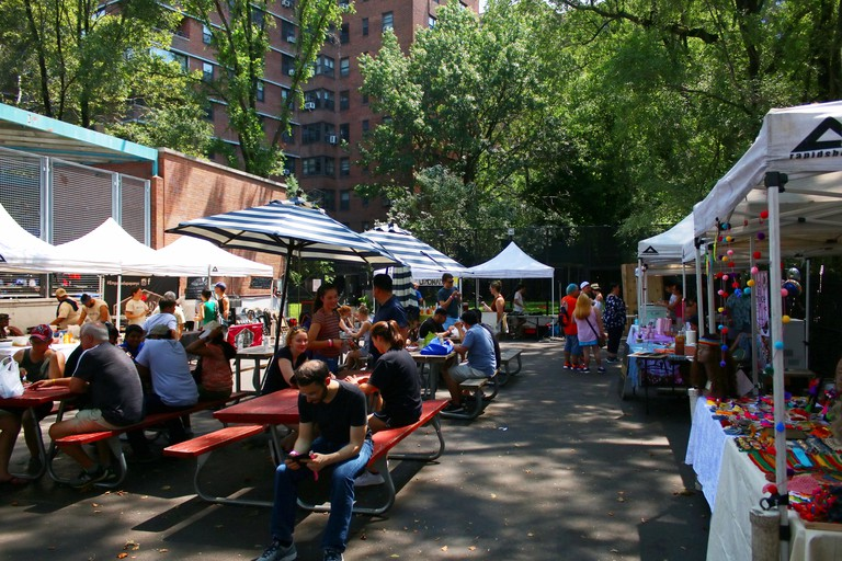 Hester Street Fair's Ice Cream Social competition is an annual event which brings local ice cream vendors to claim audience award, Manhattan on JULY 2
