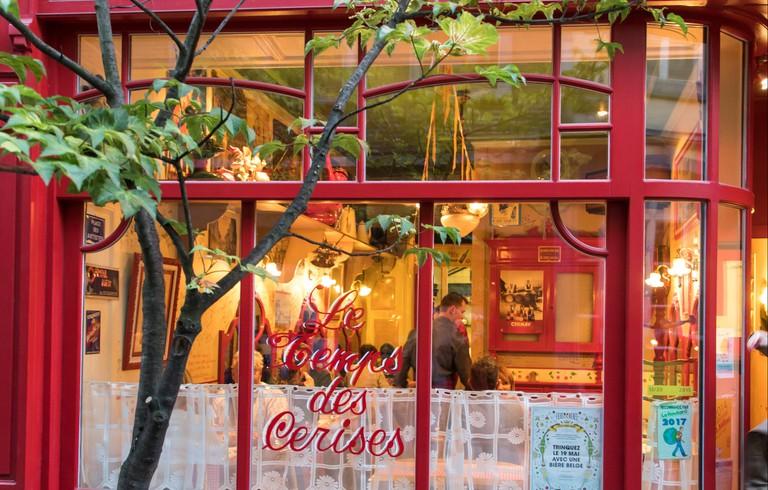Restaurant Le Temps des Cerises, in the old town of Namur, Wallonia, Belgium, traditional Belgian restaurant