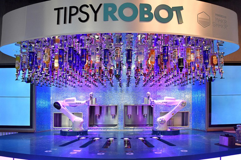The Tipsy Robot at Planet Hollywood, Las Vegas Nevada USA October 3, 2018 The robots replace the bartenders