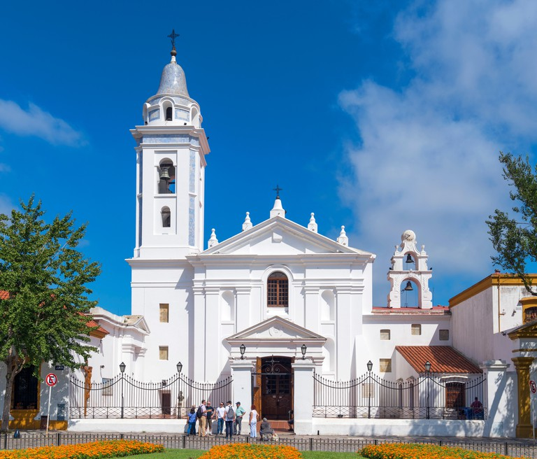 Basilica Nuestra Senora del Pilar outside La Recoleta Cemetery, Buenos Aires