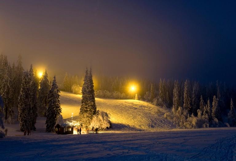2A4MDB5 Tryvann ski resort in Norway