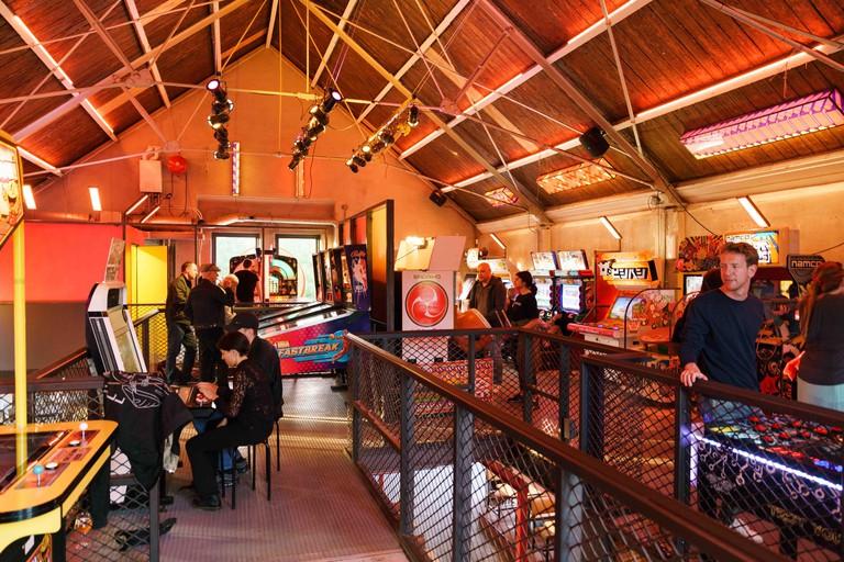 Arcade games TonTon club, Amsterdam, Netherlands.