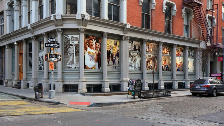 Leslie-Lohman Museum of Art, 26 Wooster St, New York, NY. exterior of visual arts museum for queer art in the SoHo neighborhood of Manhattan. Image shot 12/2019. Exact date unknown.