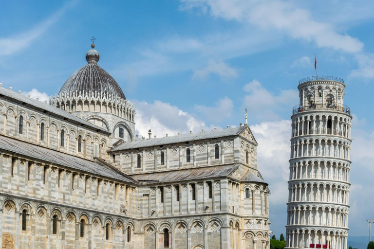 The Leaning Tower of Pisa, Pisa Cathedral, Piazza del Duomo, Tuscany, Italy