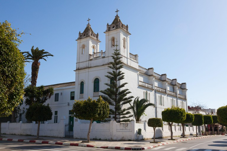 The Catholic church of San Bartolome in Asilah (also known as Arzeila), Morocco