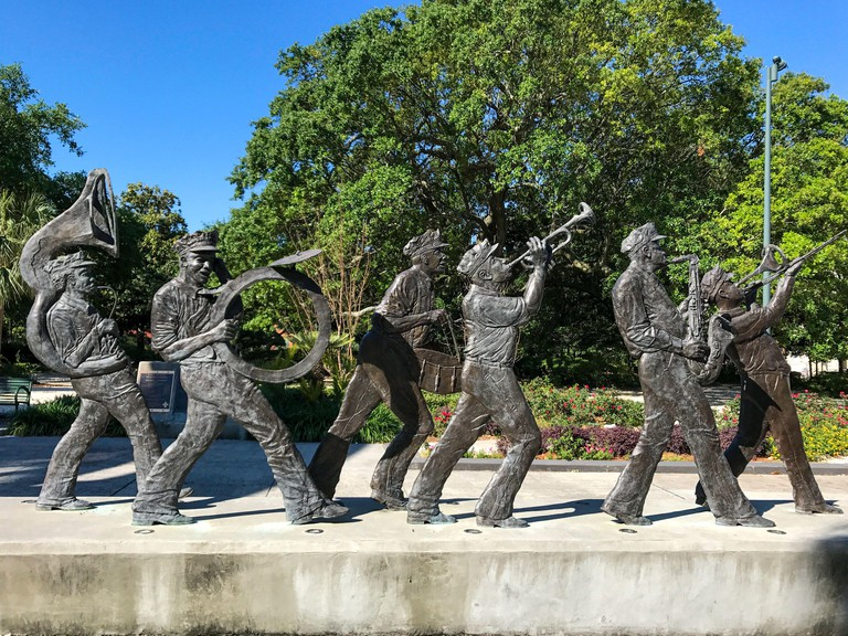 Sculpture in Louis Armstrong Park. New Orleans, Louisiana.