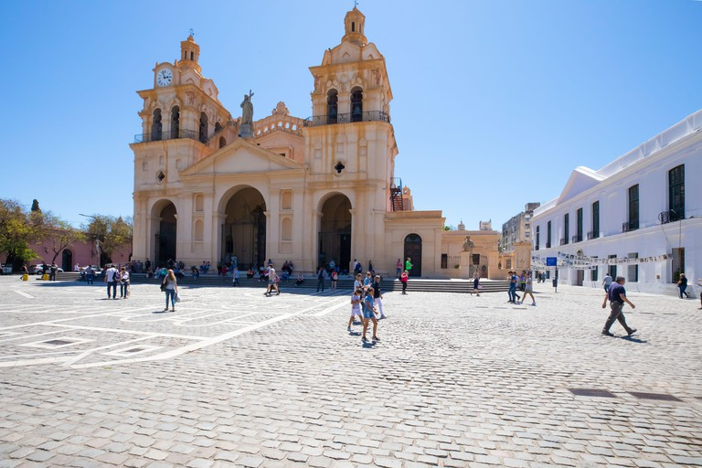 Argentina Cordoba cathedral in San Martin square. Image shot 12/2019. Exact date unknown.