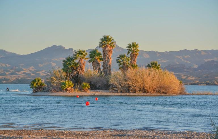 Lake Havasu National Wildlife Refuge on the Colorado River in Mohave County, Arizona USA