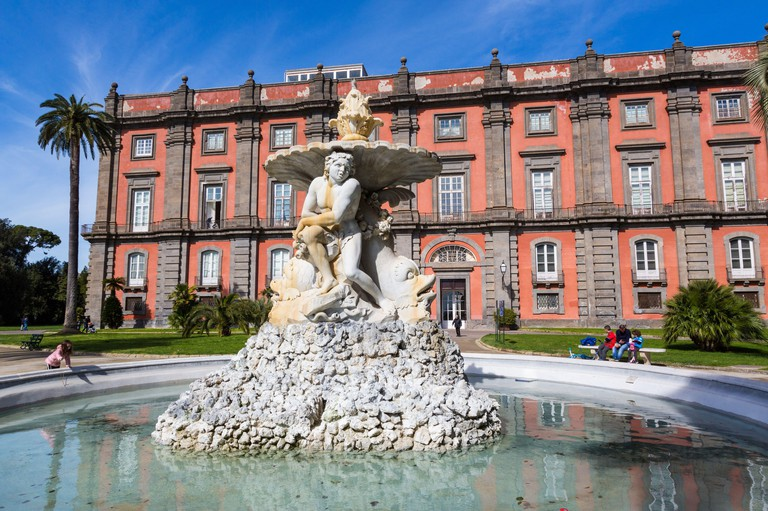 FEBRUARY 29, 2020 - NAPLES, ITALY - The Royal Palace of Capodimonte is a grand Bourbon Palace in Naples, Italy