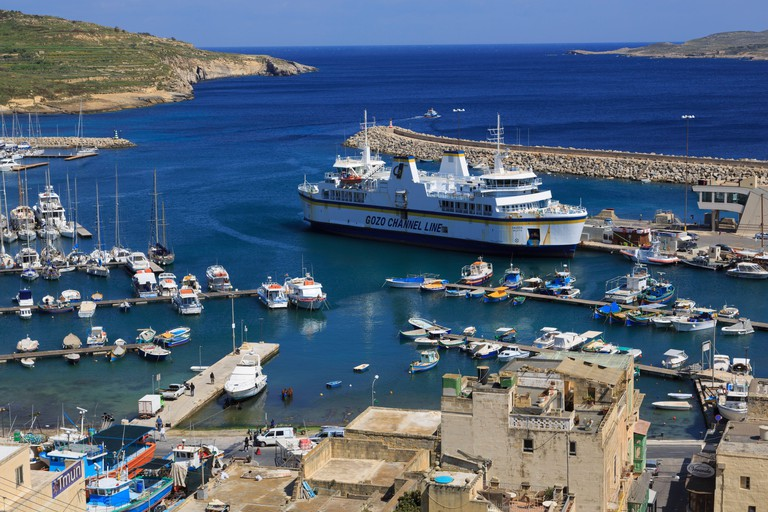 Ferry, Port of Mgarr, Gozo Island, Malta, Europe