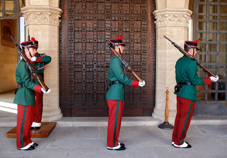Republic of San Marino: Government Palace: Changing of the Guard