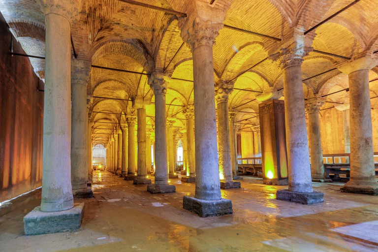 The Basilica Cistern, often called the Sunken Palace, is a late-antique cistern west of Hagia Sophia in Istanbul