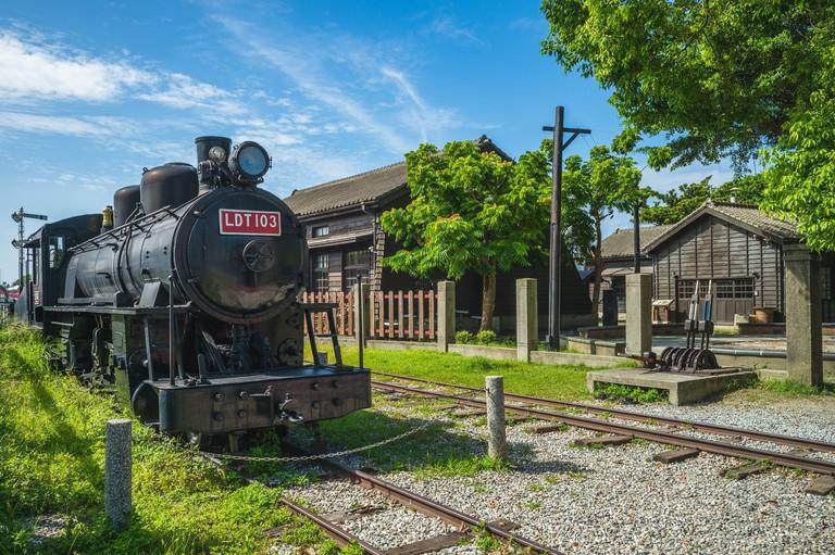 Hualien Railway Culture Park in hualien city, taiwan