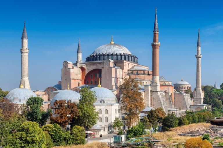 Beautiful view of Hagia Sophia in Istanbul. 2D6C591
