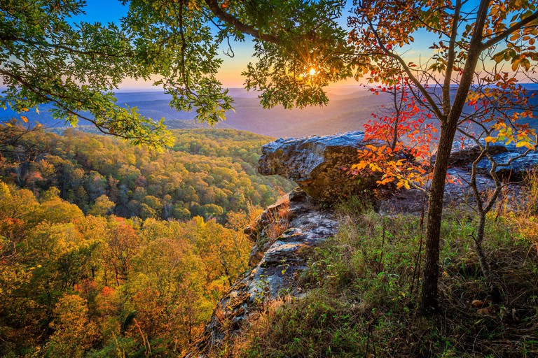 White Rock Mountain Recreation Area in the Ozark National Forest in Arkansas.