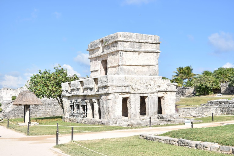 The Temple of the Frescoes from the ancient Maya city of Tulum, Yucatan, Mexico