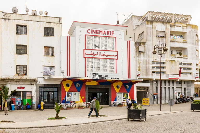 The art-house Cinema Rif at Grand Socco in Tangier, Morocco