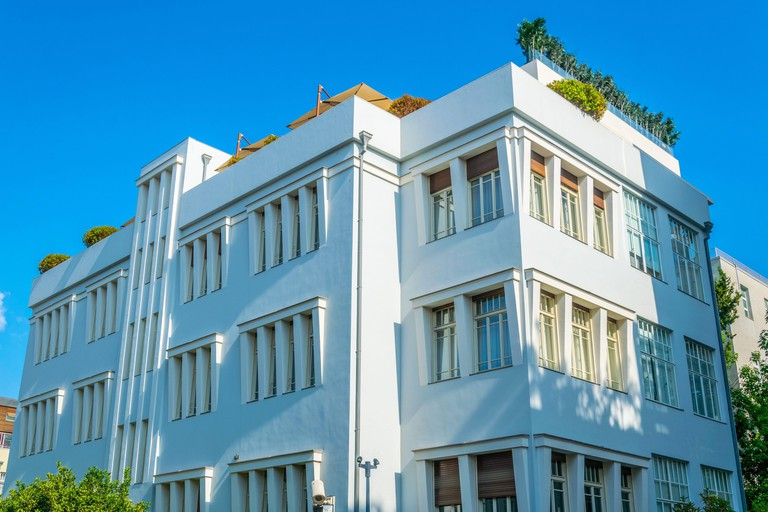 Residential houses and Bauhaus architecture of Tel Aviv, Israel