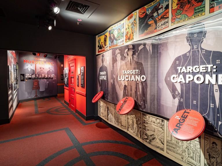 Las Vegas, FEB 15, 2021 - Interior view of The Mob Museum