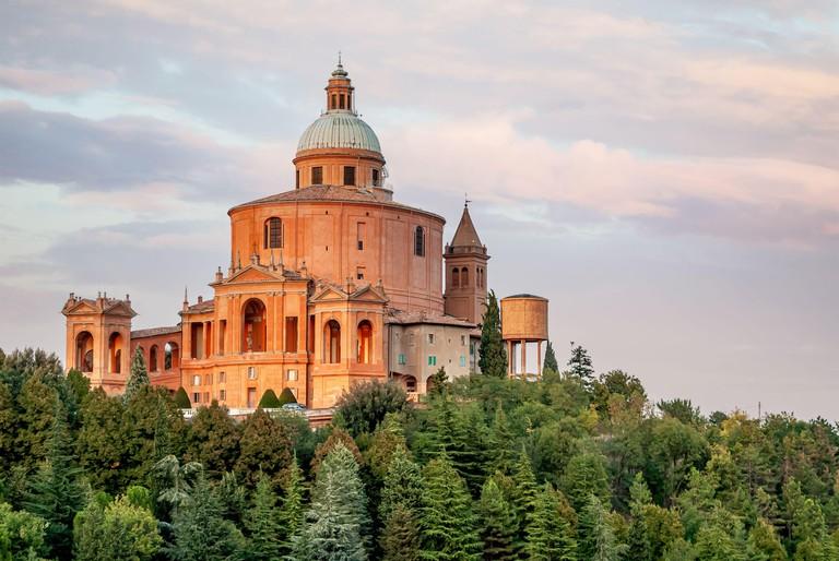 Sanctuary of the Madonna of San Luca, a basilica church in Bologna, Emilia Romagna, Italy