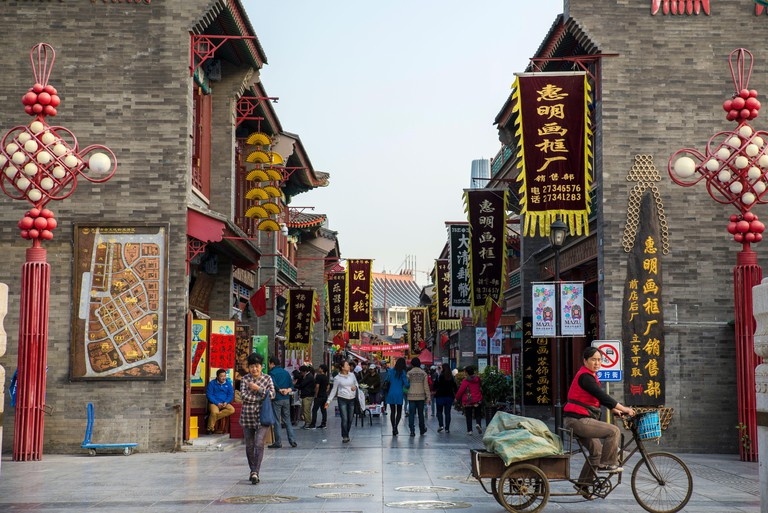Ancient culture street, Tianjin, China, Asia