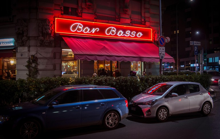Bar Basso, Via Plinio 39, is one of the most historic cocktail bars in Milan, famous especially for the invention of Negroni Sbagliato, Lombardy, Ital