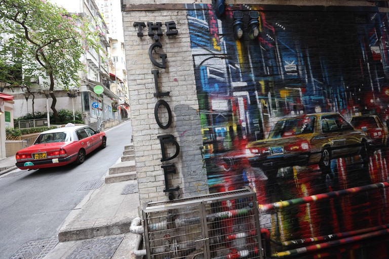 Hong Kong, China. 31st May, 2021. Graffiti by Dan Kitchener on Graham Street, Central, for HKwalls festival 2018. 31MAY21 SCMP/Nora Tam Credit: Nora Tam/South China Morning Post/ZUMA Wire/Alamy Live News
