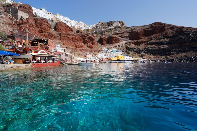 2G4FT2Y Amoudi bay, Santorini, Greece