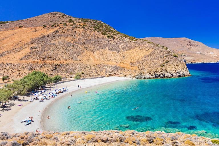 Beautiful beach of Astypaleia island,Greece.