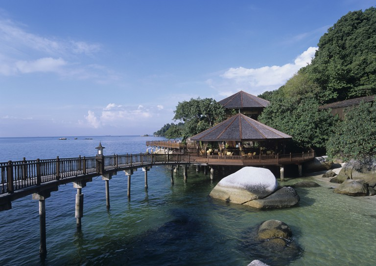 geography / travel, Malaysia, Pangkor Island, Pangkor Laut Resort, restaurant, Additional-Rights-Clearance-Info-Not-Available
