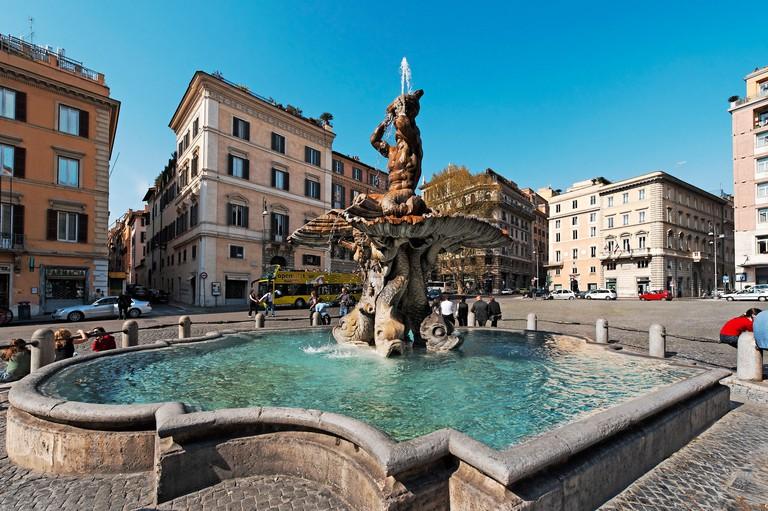 Bernini's Fontana del Tritone in Piazza Barberini