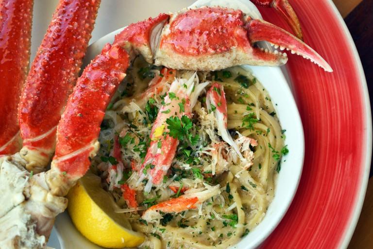 Crab Trap, Destin, Florida Bairdi Crab with Pasta
