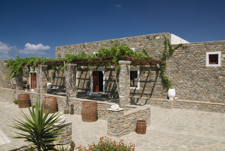 Family owned Moraitis Winery Naoussa, Paros. Image shot 2009. Exact date unknown.