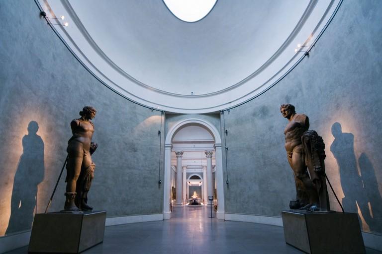 Roman statues, National Gallery, Parma, Emilia Romagna, Italy, Europe