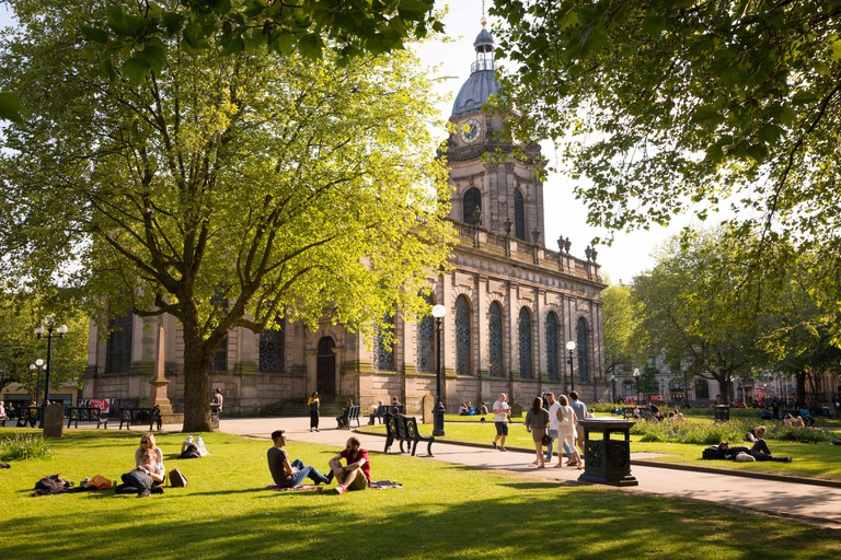 St Philips Cathedral grounds, Birmingham UK