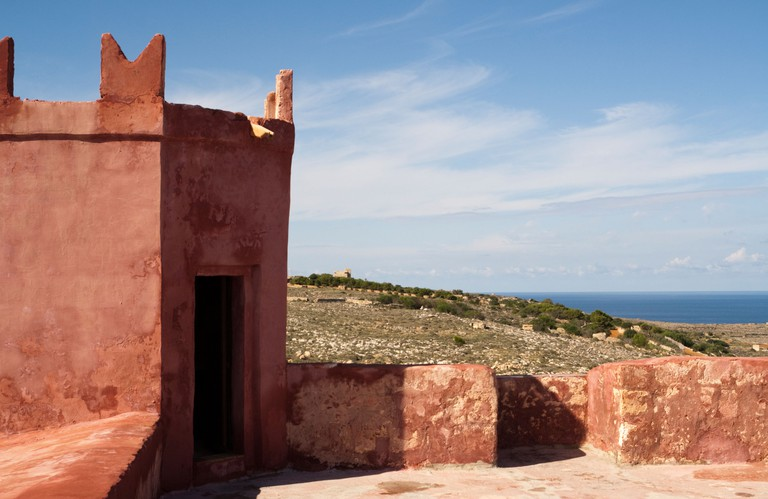 View from the Red Tower (St Agatha's Tower) on the Marfa Ridge, North West Malta. Image shot 2010. Exact date unknown.