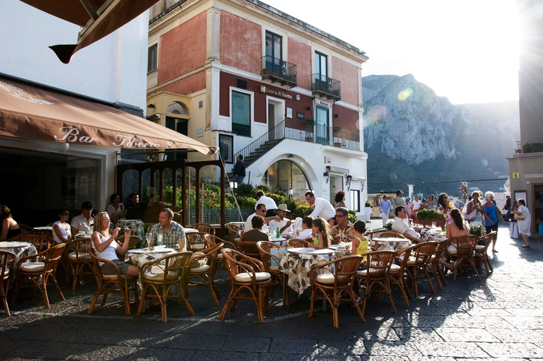 Bar Tiberio, La Piazzetta, Capri, island of Capri, Italy, Europe