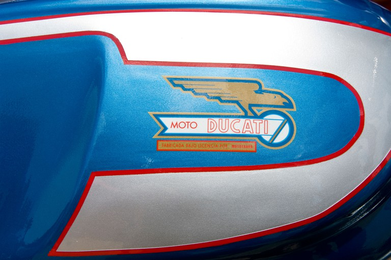 Ancient Ducati motorcycle.