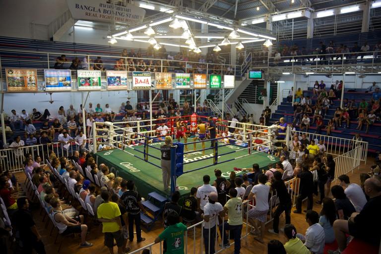 A Muay Thai, kick boxing stadium, Patong, Phuket , Thailand