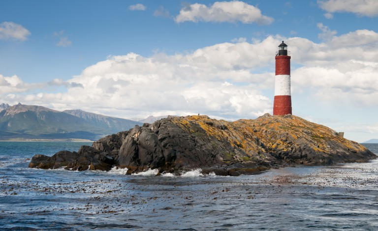 Les Eclaireurs Lighthouse in Beagle Channel, tierra del fuego,
