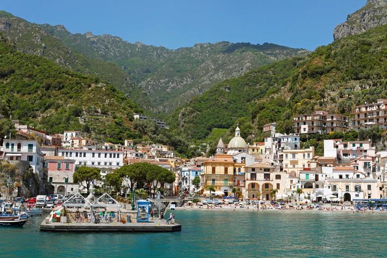 View of fishing town Cetara
